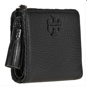 Tory Burch Taylor Mini Wallet black leather